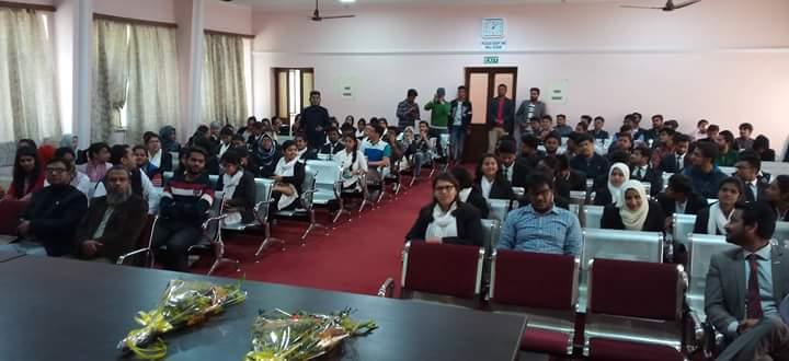 Project Abhimanyu Workshop on Career Guidance held at Aligarh Muslim University on 24.02.2017