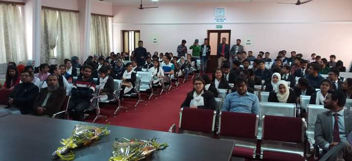 Project Abhimanyu Workshop on Career Guidance held at Aligarh Muslim University on 24.02.2017