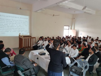 Project Abhimanyu Workshop on Career Guidance held at Chaudhary Charan Singh College, Saifai, Etawah, UP on 16.11.2016