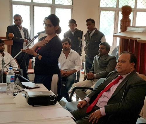 Project Abhimanyu Workshop on Career Guidance held at Chaudhary Charan Singh College, Saifai, Etawah, UP on 16.11.2016